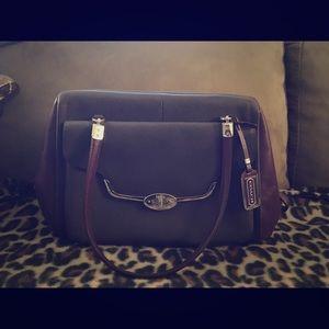 Coach purple medium satchel